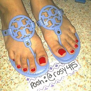 Periwinkle💎Tory Burch Miller sandals Logo sandals
